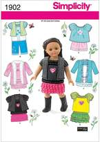 Simplicity 1902 Doll Clothes Sewing Pattern, One