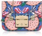 Furla Toni Rose Quartz Anguria Printed Leather Metropolis Mini Crossbody Bag