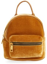 Street Level Velvet Backpack - Yellow