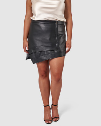 Pink Dusk - Women's Black Leather skirts - Piece Of Me Skirt - Size One Size, 12 at The Iconic