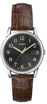 Timex Men's Watch with Leather Strap - Silver/Brown T2N948JT