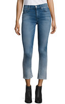 Paige Harper Ombré High-Rise Cropped Flared Jeans