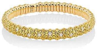 Zydo 18K Yellow Gold, Diamond & Yellow Sapphire Stretch Bracelet