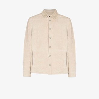 Brunello Cucinelli Quilted Leather Shirt Jacket