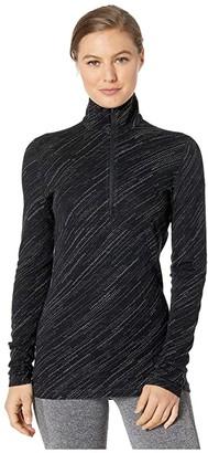 Icebreaker 250 Vertex Merino Long Sleeve 1/2 Zip Snow Storm (Black) Women's Clothing