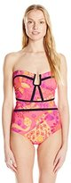 Nanette Lepore Women's Jakarta Jaguar Seductress One-Piece Swimsuit