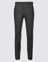 M&s Collection Black Slim Fit Dinner Trousers