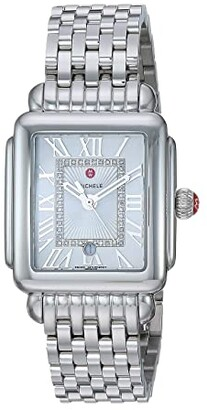 Michele Deco Madison Mid Silver - MWW06G000012 (Stainless Steel/Silver/White Sunray Dial) Watches
