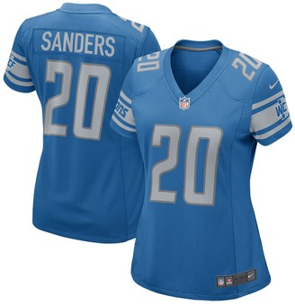 Nike Women's Barry Sanders Blue Detroit Lions 2017 Retired Player Game Jersey