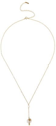 Chan Luu 18K Goldplated & 2-12MM Pearl Charm Lariat Necklace