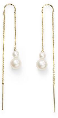Ippolita 18kt yellow gold Nova Thread pearl drop earrings