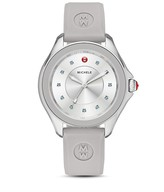 Michele Cape Topaz-Studded Silicone Strap Watch, 40mm
