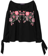 Violeta BY MANGO Bows floral embroidery blouse
