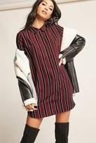 Forever 21 Stripe Shirt Dress