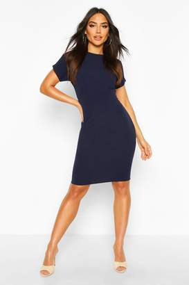 boohoo Pleat Waist Midi Dress