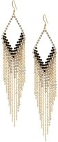 GUESS Kite Shaped Drop Earrings with Metal Fringe