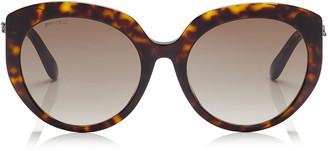 Jimmy Choo ETTY Brown Shaded Oval Sunglasses with Dark Havana Frame
