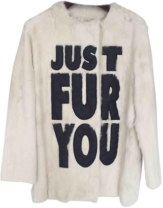 Moschino Cheap & Chic Moschino Cheap And Chic White Fur Coat for Women