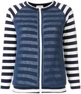 Giorgio Armani Pre Owned striped zipped jacket