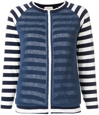 Giorgio Armani Pre-Owned Striped Zipped Jacket