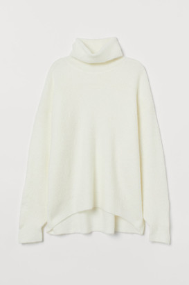 H&M Knit Turtleneck Sweater - White