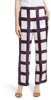 Tory Burch Women's Harper Plaid Silk Pants