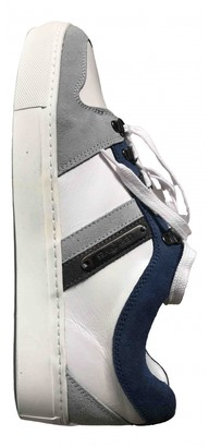Les Hommes White Leather Trainers