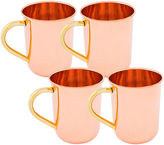 Old Dutch 14 Oz Solid Copper Straight Sided MoscowMule MugsSet of 4