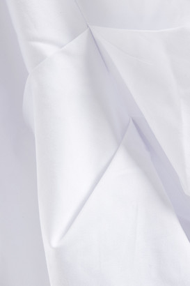 Paper London Kaia Gathered Cotton-blend Sateen Top