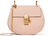 Chloé Drew Small Textured-leather Shoulder Bag - Blush