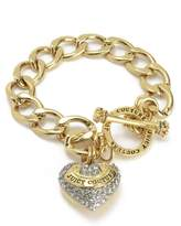 Juicy Couture Pave Banner Heart Starter Bracelet