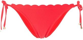 Heidi Klein scalloped triangle bottoms