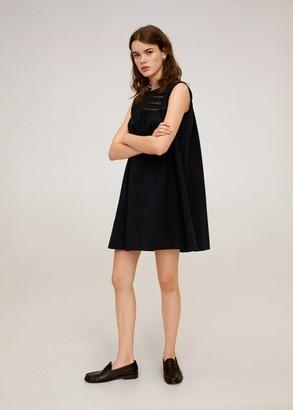 MANGO Openwork detail dress black - 2 - Women