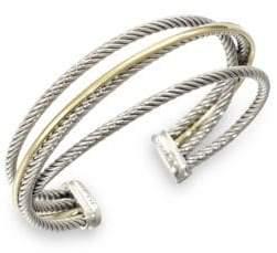 David Yurman Sterling Silver& 18K Gold Cuff Bracelet