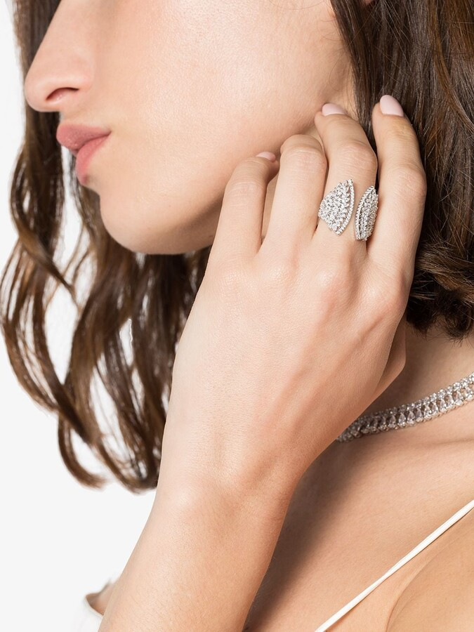 Thumbnail for your product : Apples & Figs Feather Wing Ring