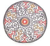 Jessica Simpson Puebla Velvet-Piped Crewel-Embroidered Round Pillow