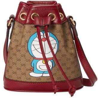 Gucci Doraemon x mini bucket bag