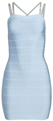 Herve Leger Swarovski Crystal-Embellished Cocktail Dress