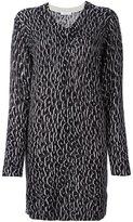 Equipment leopard print knitted dress
