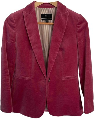 J.Crew Pink Velvet Jacket for Women