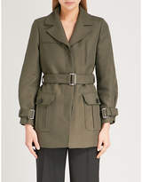 Claudie Pierlot Belted cotton-twill coat