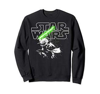Star Wars Yoda Lightsaber Logo Sweatshirt
