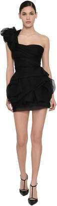 Ermanno Scervino Ruffled Chiffon Mini Dress