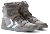 Hummel Frost Grey Slimmer Stadil High Junior Trainers