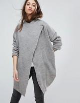 Noisy May Shake Drapey Wool Mix Cardigan