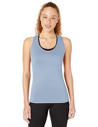 Core 10 Seamless Mesh Workout Racerback Tank Yoga Shirt,L (12-14)