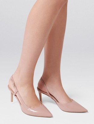 Forever New Charlotte Slingback Court Heels - Nude Patent - 37