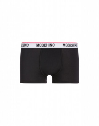 Moschino Jersey Boxer With Logo Man Black Size L It - (m Us)
