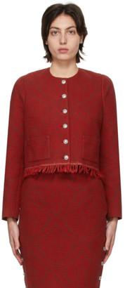 Marine Serre Red Moon Salutation Regenerated Carpet Jacket