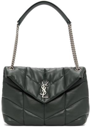 Saint Laurent Green Medium Loulou Puffer Bag
